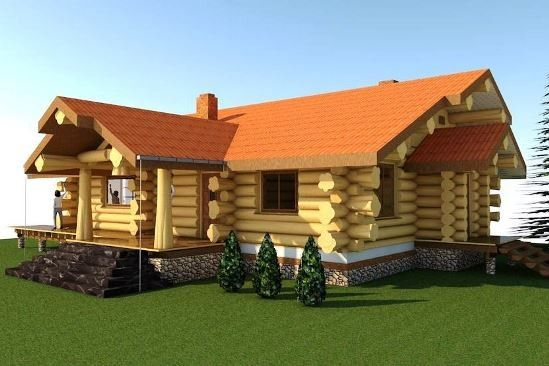 sketch log home design by Teremki Russia