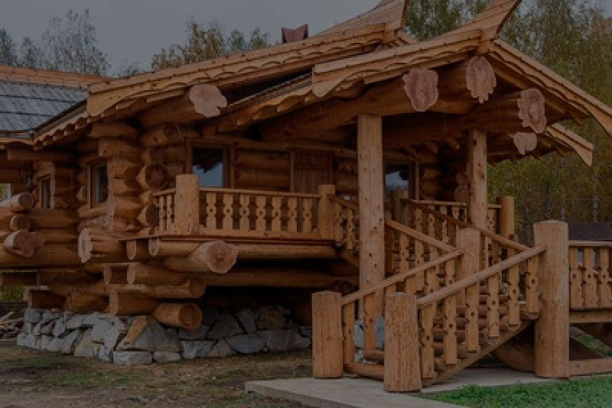western red cedar log house