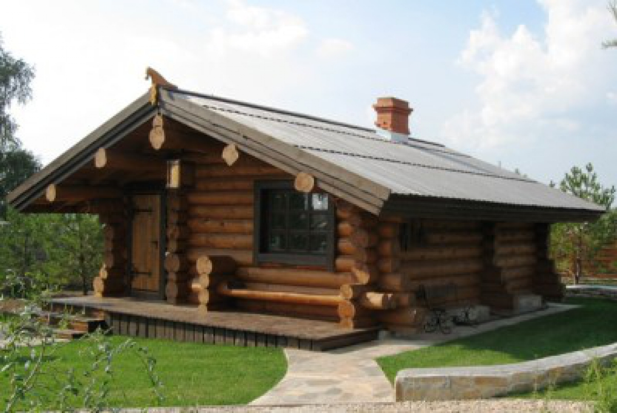 russian banya sauna round notch